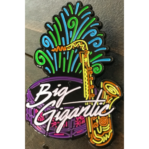 Big G Sax & Drums Logo Pin