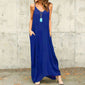 Beach Style Strapped Loose Maxi Dress