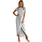 Casual Sashed Bandage Maxi Dress