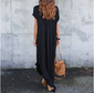 Side Split Knotted Boho Maxi Dress