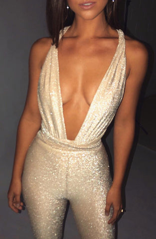 Luxe Life Jumpsuit - Gold