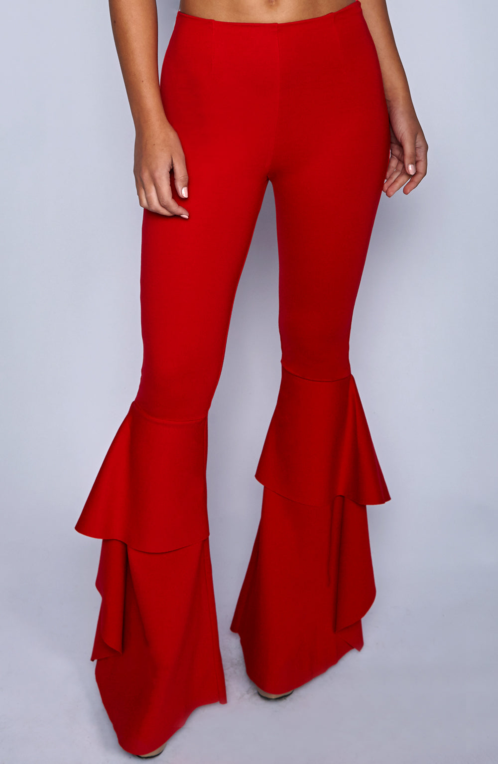 Azina Flared Pants - Red