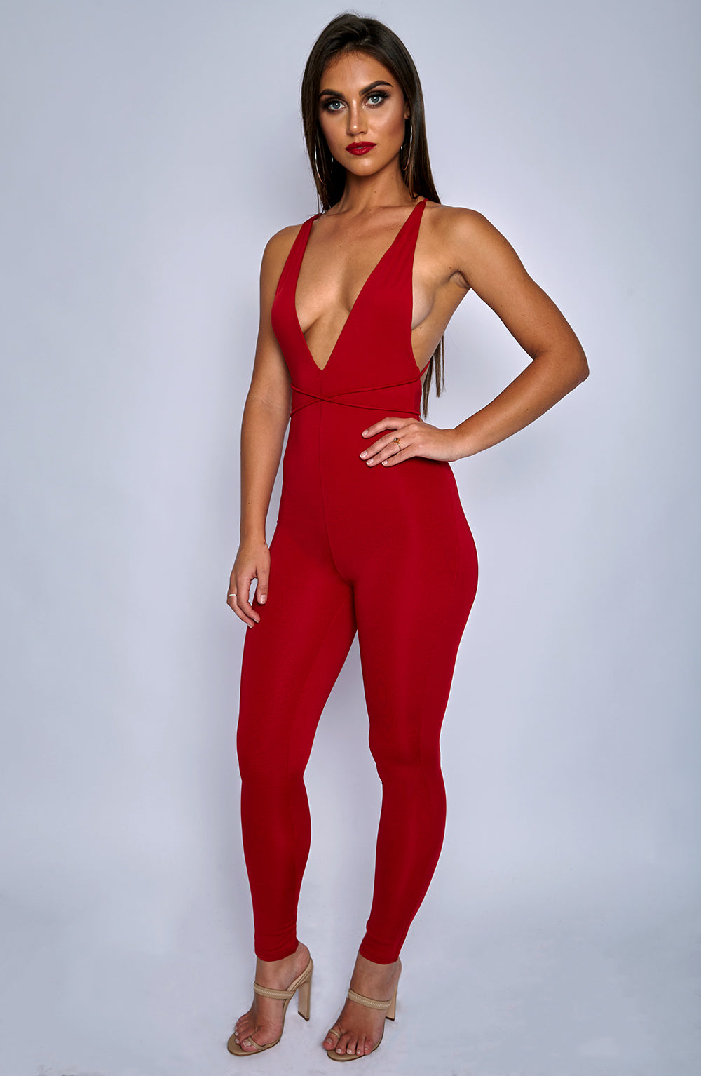 Mischa Jumpsuit - Red