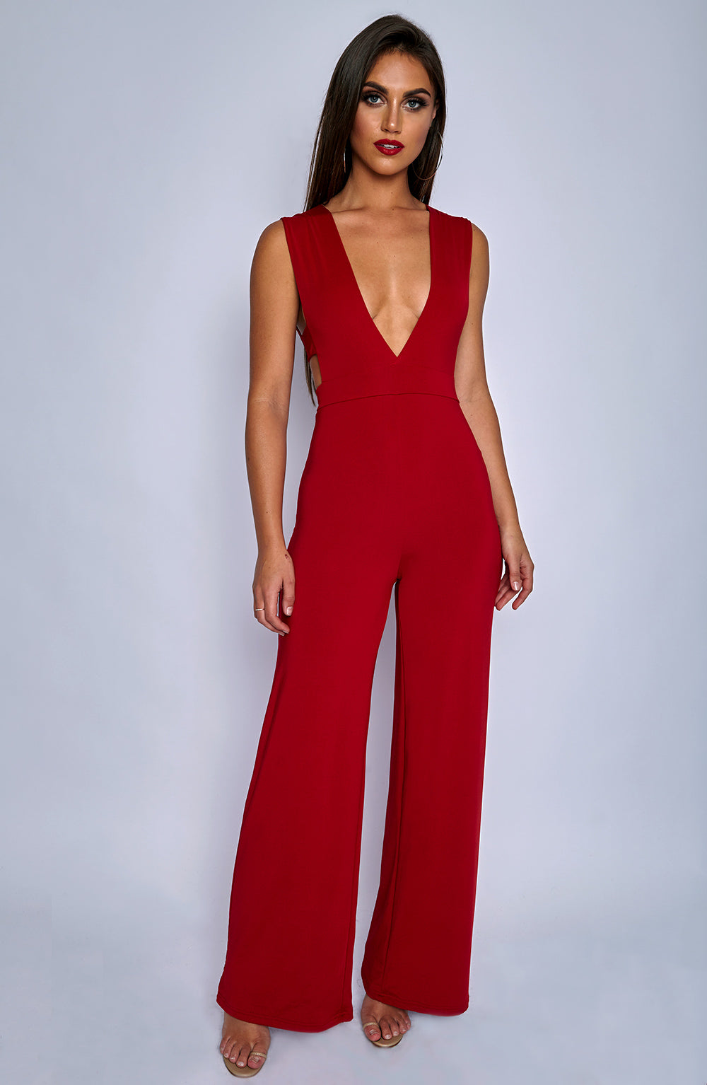 Tammy Jumpsuit - Red