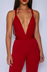 Leia Jumpsuit - Red