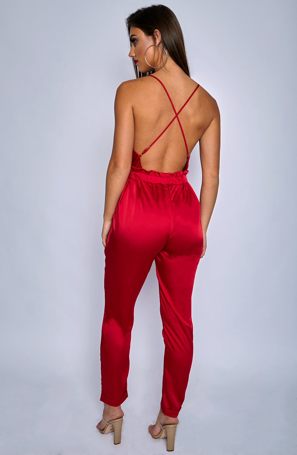 Scarlett Jumpsuit - Red