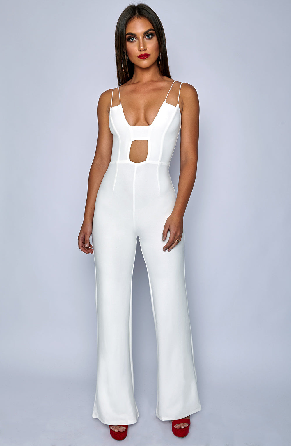 Bow Down Jumpsuit - White