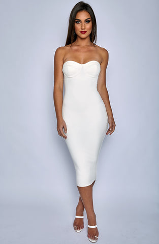 Set Structure Bodycon Dress - White