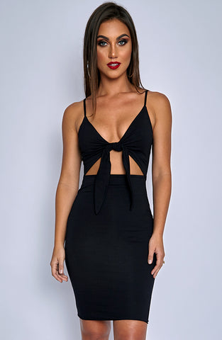 Isla Tie Dress - Black