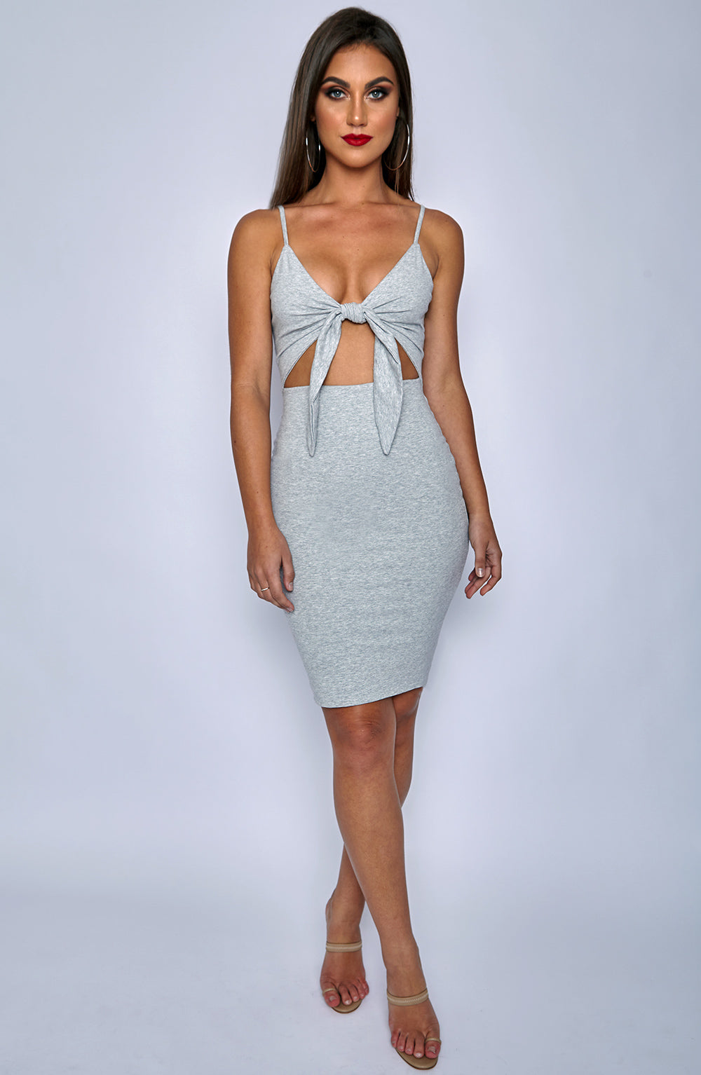 Isla Tie Dress - Grey