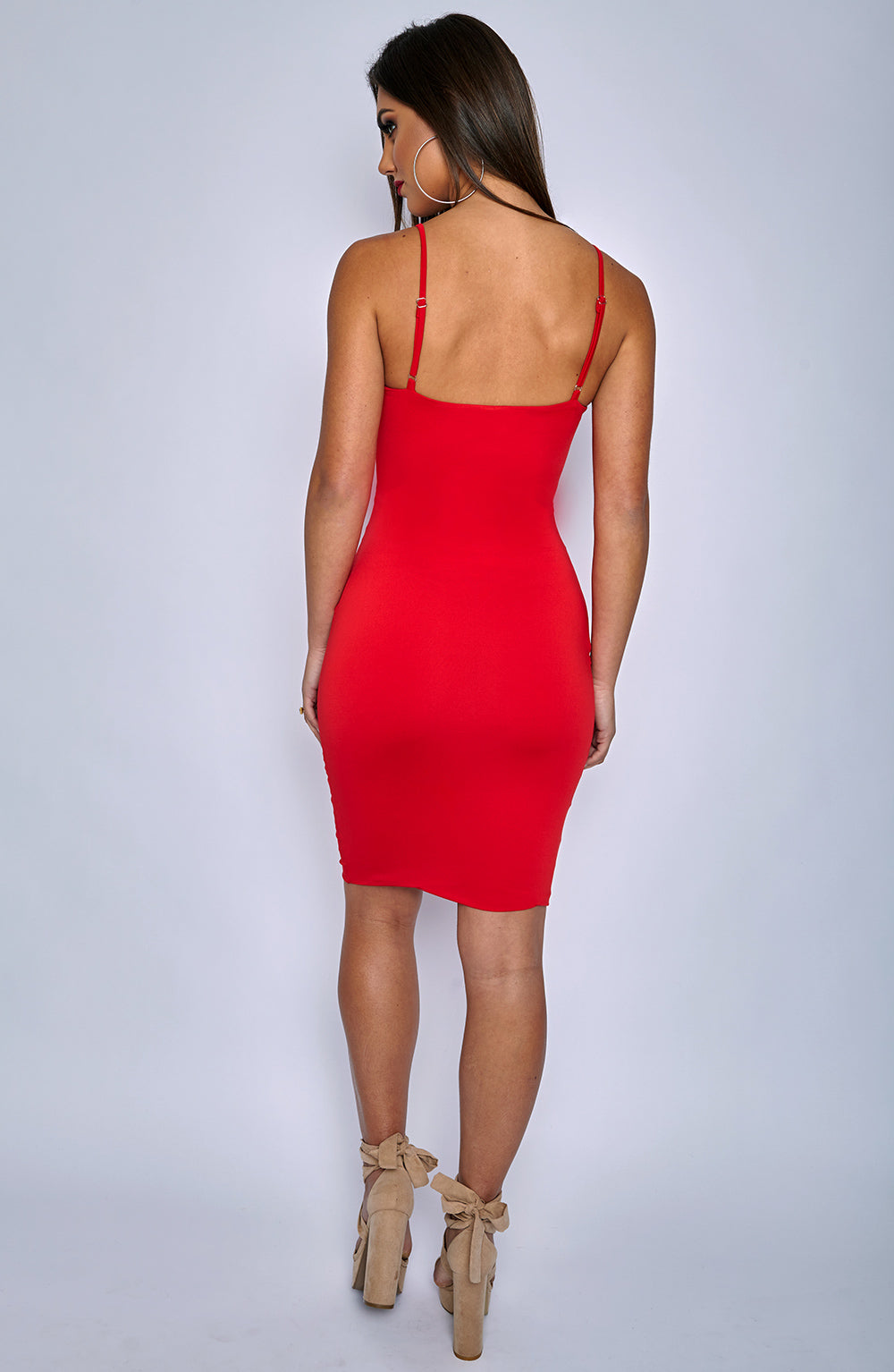 Isla Tie Dress - Red