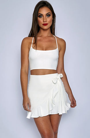 Salsa at Heart Skirt - White