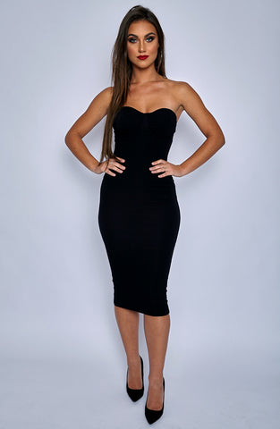 Set Structure Bodycon Dress - Black