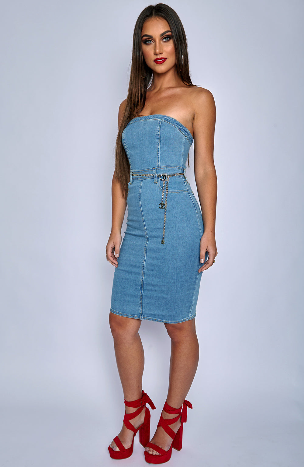Cia Dress - Blue Denim