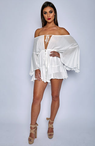 Tatiana Playsuit - White