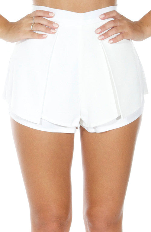 Luxury Life Shorts - White