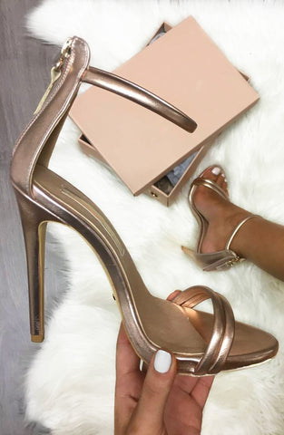 Liana Heels - Rose Gold Metallic