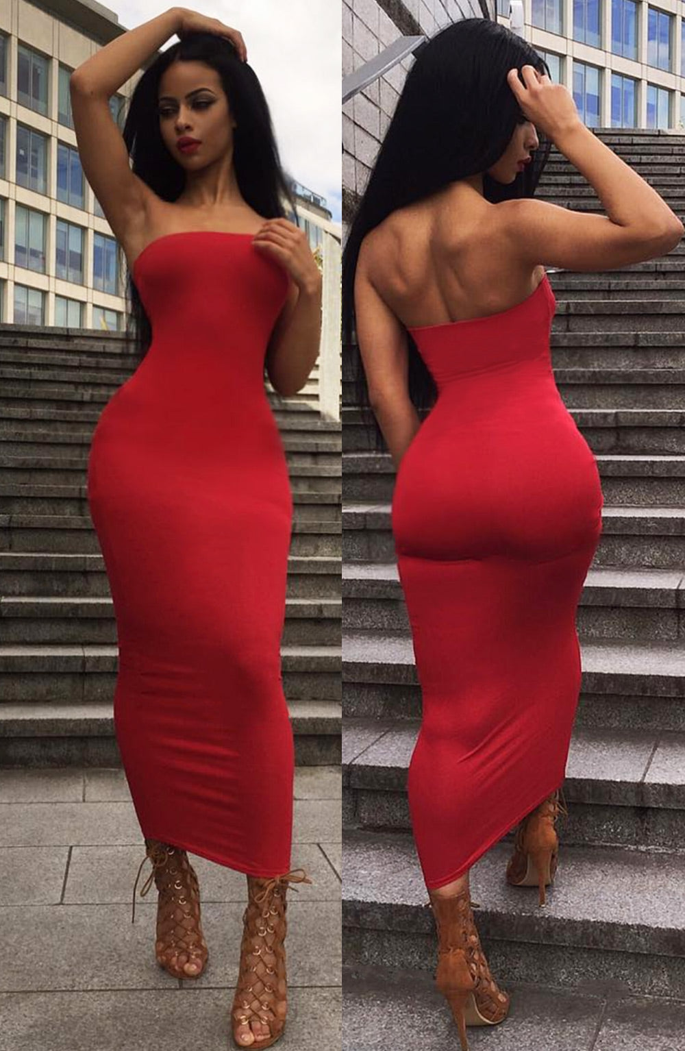 In Style Maxi Dress - Red