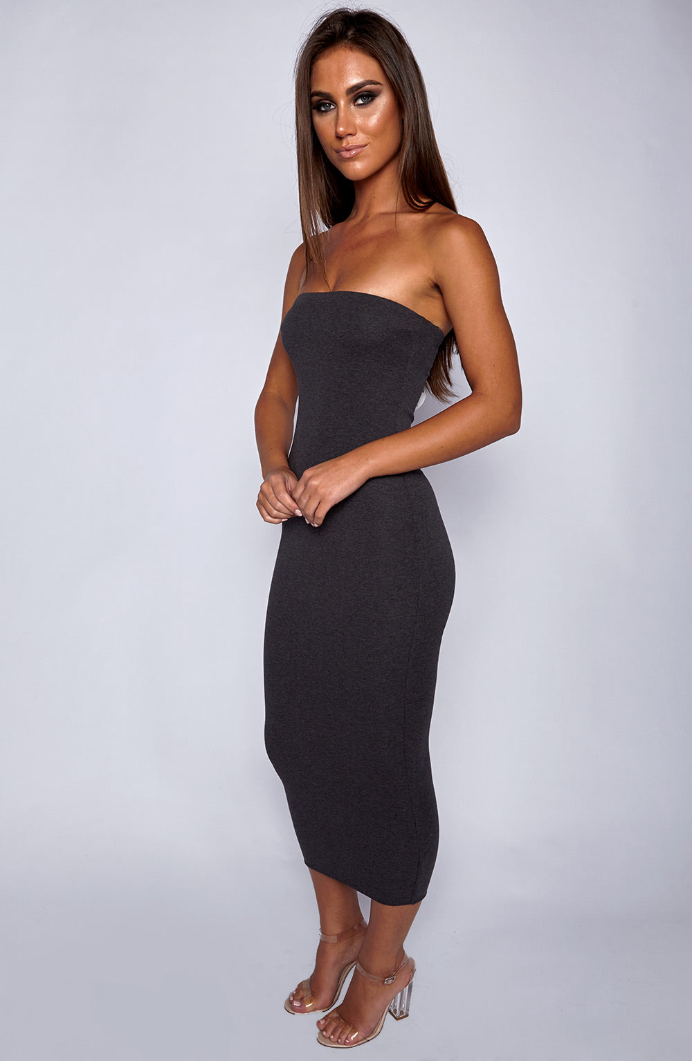 In Style Maxi Dress - Charcoal