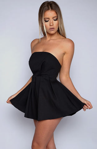 Bite Me Playsuit - Black