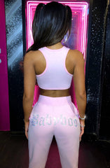 Babyboo Diamante Crop - Pink