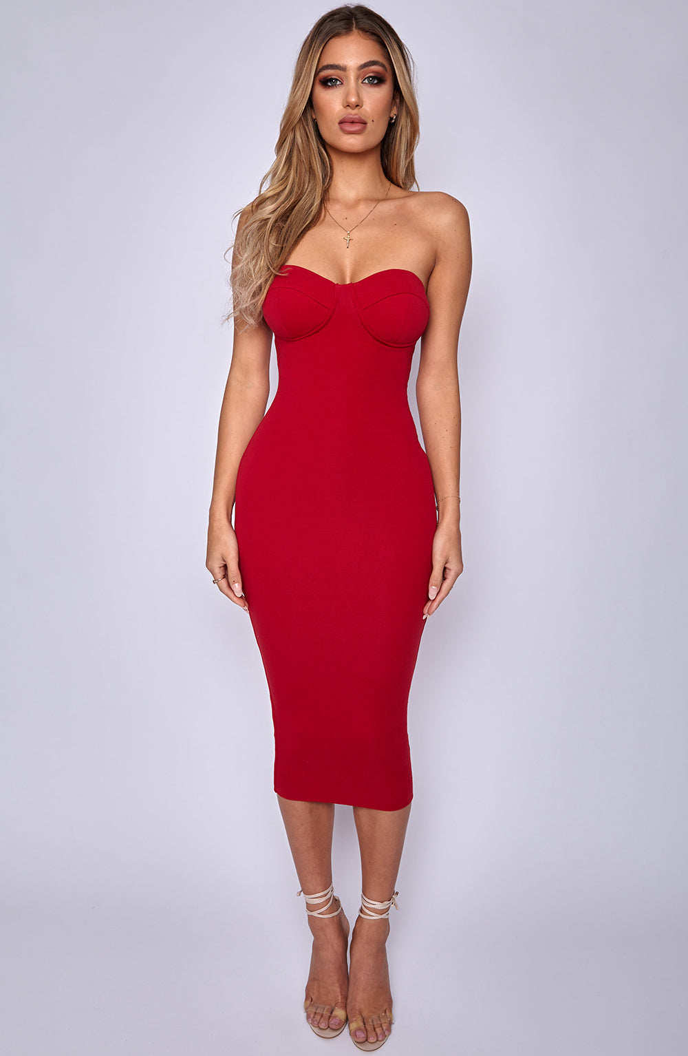 Set Structure Bodycon Dress - Red
