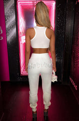 Babyboo Diamante Crop - White