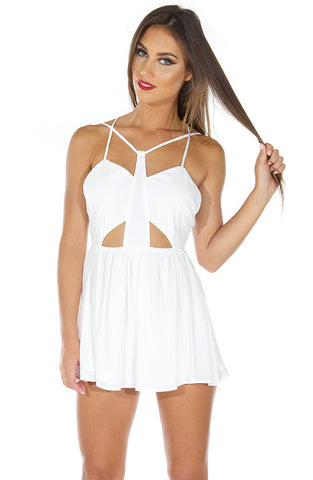 Style Stealer Playsuit - White