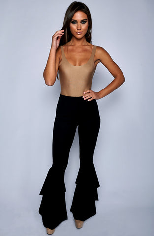 Azina Flared Pants - Black