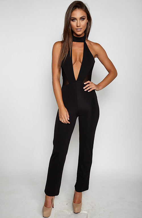 High Bombshell Jumpsuit - Black
