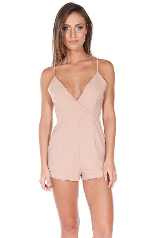 Forecast Playsuit - Tan