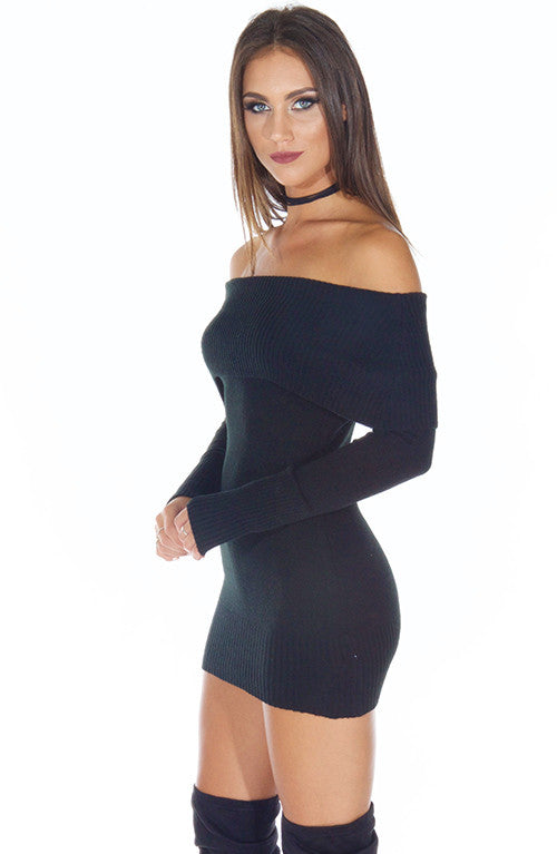 Amber Knit Dress - Black