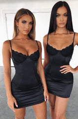 Chantel Mini Dress - Black