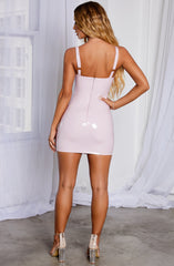 Addison Mini Dress - Baby Pink
