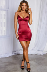 Alexis Mini Dress - Burgundy