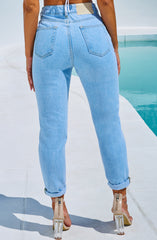 Ali Boyfriend Jeans - Light Blue