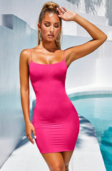 Aria Mini Dress - Hot Pink