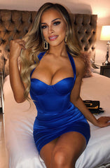 Ada Mini Dress - Electric Blue