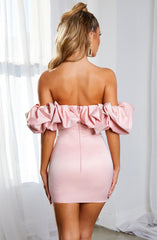 Allie Mini Dress - Baby Pink