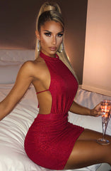 Allissa Mini Dress - Red Sparkle