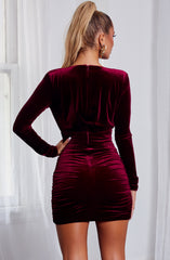 Amalia Mini Dress - Burgundy