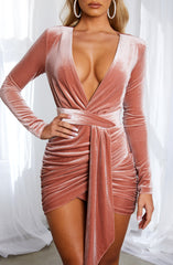Amalia Mini Dress - Dusty Pink