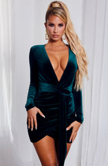Amalia Mini Dress - Emerald