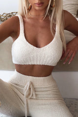 Amira Cozy Crop - Cream
