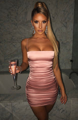 Anastasia Mini Dress - Baby Pink