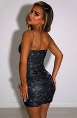 Anastasia Mini Dress - Black Sparkle