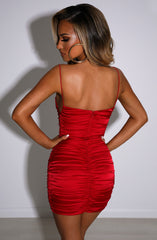 Anastasia Mini Dress - Red