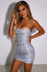Anastasia Mini Dress - Silver Sparkle