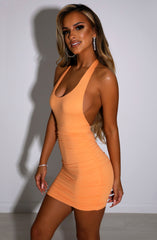 Anita Mini Dress - Tangerine