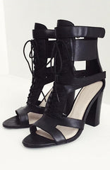 Flawn It Girl Heels - Black